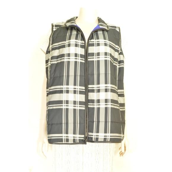 Ralph Lauren Jackets & Blazers - Ralph Lauren vest 2X black white gray check puffer
